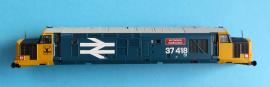 """370-048 - Class 37 BR Blue large arrows """"An Comunn Galdhealach"""" running No 37418"""