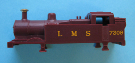 371-025A - GP tank LMS maroon plastic body running No 7309