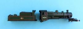 372-625 2MT Ivatt tender loco BR green No 46521