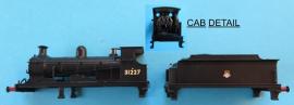 "372-777 - ""C"" Class Loco BR Black Early Crest No.31227"