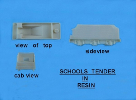 "BR0112 - Resin Schools Tender body top ""N"" gauge (Scratch built chassis required)"