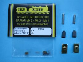 "F9518 - Fleishmann ""HO"" brushes and springs/holders"