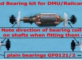 GF8175 - Railcar/DMU101 Armature bearing and gear Kit