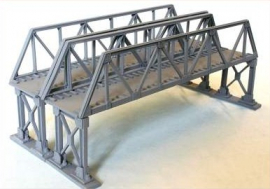 NAP16 - Double Truss Girder Bridge Approx 13 Inches Long With Metal Supports