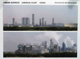 """USN60 - New Release """"N"""" Gauge Chemical Plant Printed on Quality Paper"""