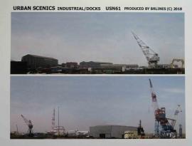 """USN61 - New Release """"N"""" Industrial Buildings/Dockyard Scene Printed on Quality Paper"""