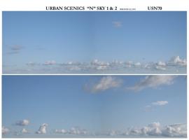 "USN70 - ""N"" Sky Scene 2 Lengths That Match 27cm Length x 9cm High"