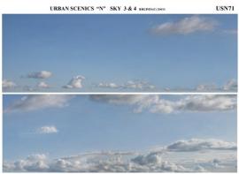 """USN71 - """"N"""" Sky Scene 2 Lengths 28cm Length x 9cm High"""